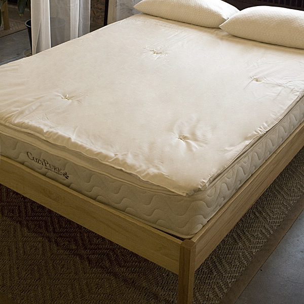 "1.5"" Organic Wool Comfort Pad Mattress Topper"